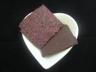 Chocolate flax crisp